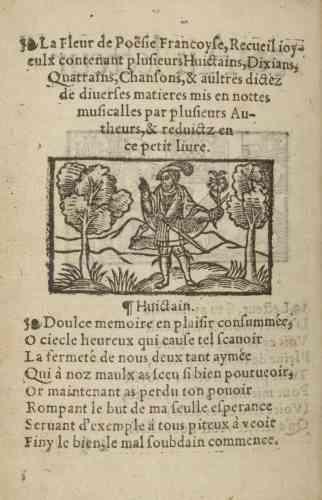 « Doulce mémoire », poème composé par François Ier en personne, est rapidement devenu très populaire. Il fut mis en musique plusieurs fois.
