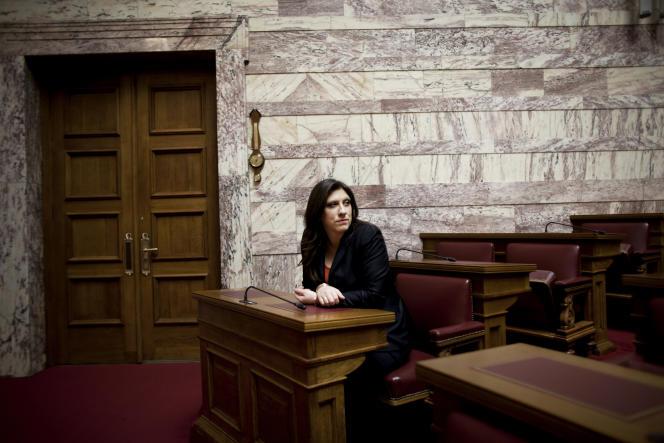Zoé Konstantopoulou, présidente du Parlement grec.