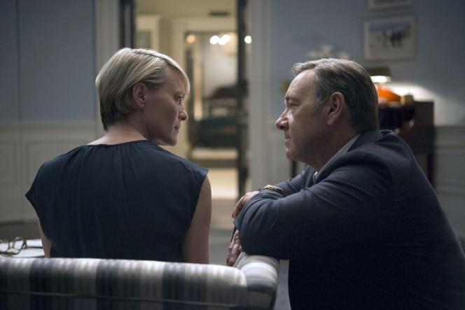 Robin Wright et Kevin Spacey dans la série