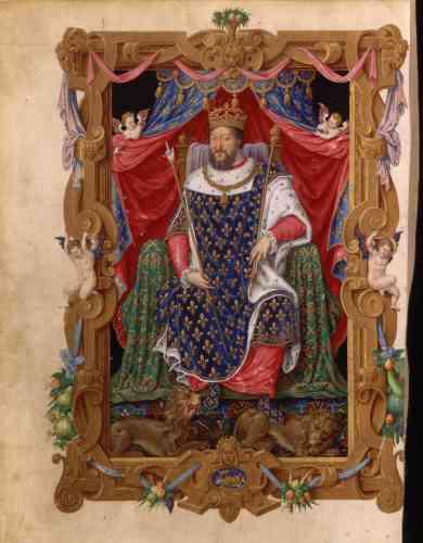 A la fin du règne de François Ier apparaît une nouvelle iconographie montrant le souverain en majesté, incarnation d'un pouvoir solitaire.