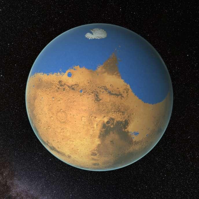 L'hémisphère nord de Mars est considéré depuis longtemps par les scientifiques comme la zone la plus propice pour contenir un océan.