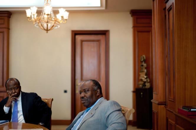 Le président Ali Bongo Ondimba, lors de l'entretien avec