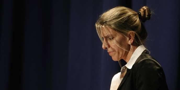 Sandra Arroyo Salgado, ex-femme du procureur Nisman, lors de la présentation des conclusions de l'enquête qu'elle a dirigée sur la mort de son ex-mari.