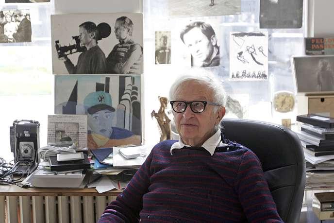Albert Maysles dans son bureau à New York, en 2006.