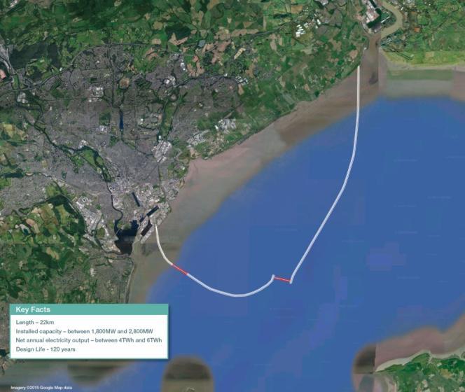 Le projet consiste à construire dans la mer un pharaonique barrage de 22 kilomètres de long, qui formerait un vaste « U » entre l'est et l'ouest de Cardiff. Cela créerait un lagon artificiel de 70 km2.
