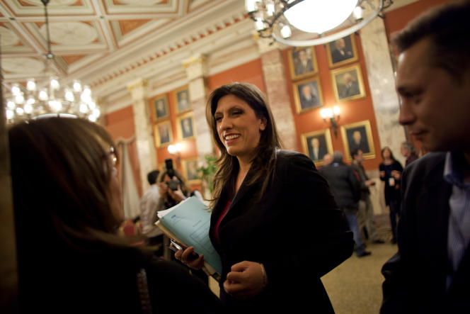 Zoé Konstantopoulou, nouvelle présidente du Parlement grec.