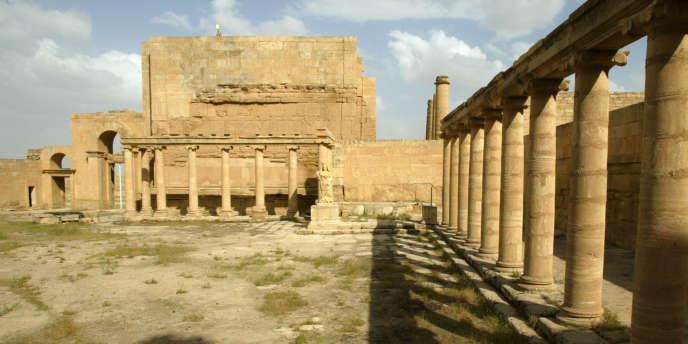 Les vestiges d'Hatra, en Irak, en avril 2003.