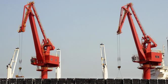 Dans un port de Lianyungang en mars.