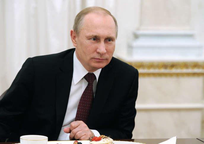 Le président russe, Vladimir Poutine, le 8 mars à Moscou.