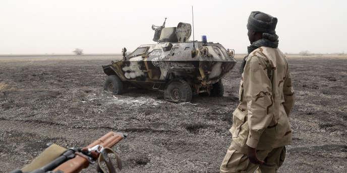 Un soldat tchadien au Nigeria, le 26 février 2015.
