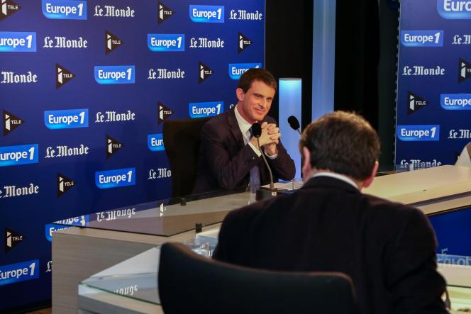 Le premier ministre, Manuel Valls, était l'invité du Grand Rendez-Vous Europe 1,