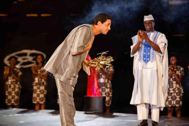 Le réalisateur franco-marocain Hicham Ayouch, lauréat de l'« Etalon d'or du Yennenga » pour son film « Fièvres ».
