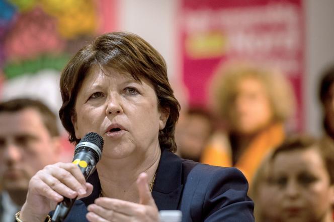 Martine Aubry, en mars 2015 à Lille.