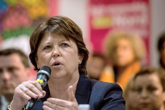 Martine Aubry, le 9 mars 2015.