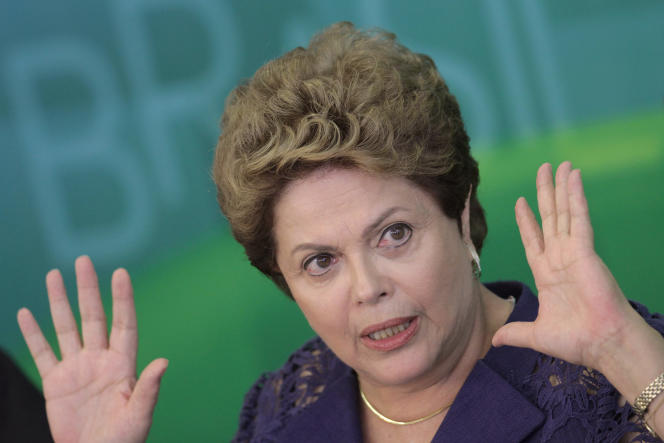 La présidente brésilienne Dilma Rousseff, à Brasilia, le 22 décembre 2014.
