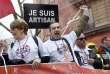 Manifestation pour protester contre le régime social des indépendants, à Paris, en mars 2015.