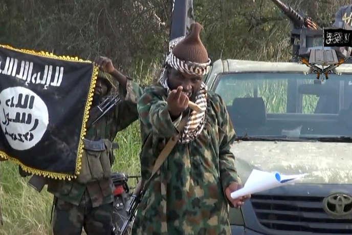 Une capture d'écran d'une vidéo de propagande de Boko Haram datée du 2 octobre 2014.