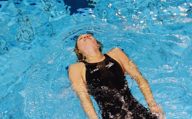 Aux championnats de France en petit bassin à Angers, en novembre 2012.