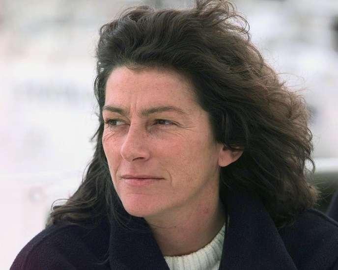 Florence Arthaud, le 17 avril 1998 à Lorient.