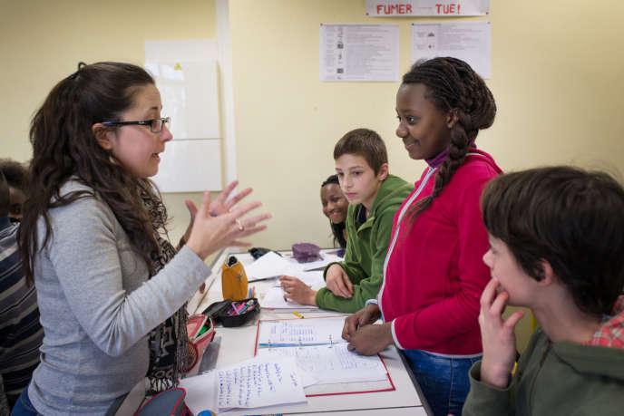 Module de physique au collège Pasteur de Mantes-la-Jolie, le 9 mars.