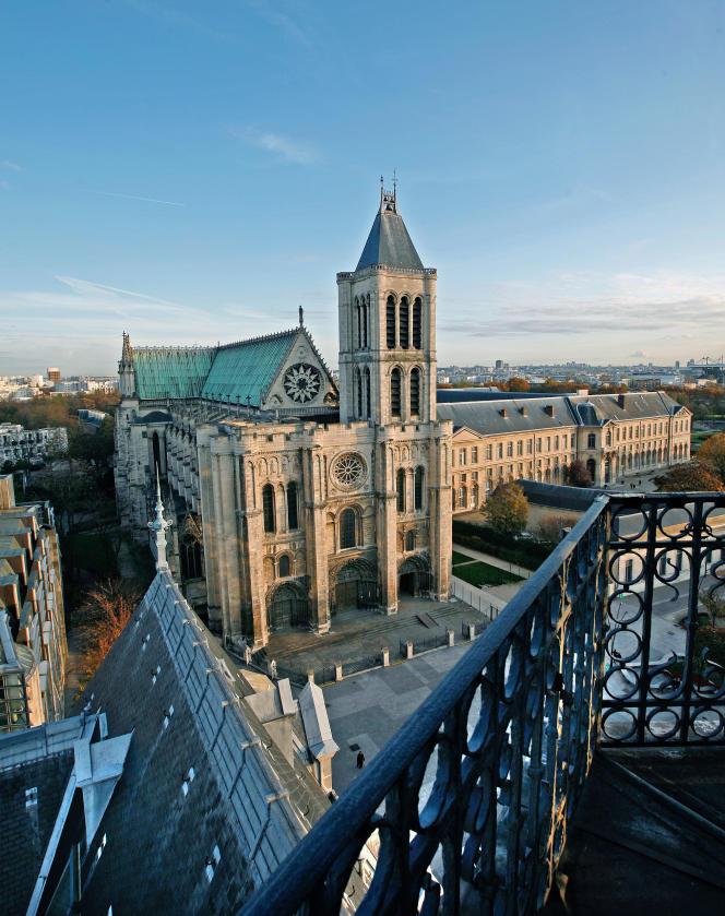 La façade occidentale de la basilique de Saint-Denis (Seine-Saint-Denis).