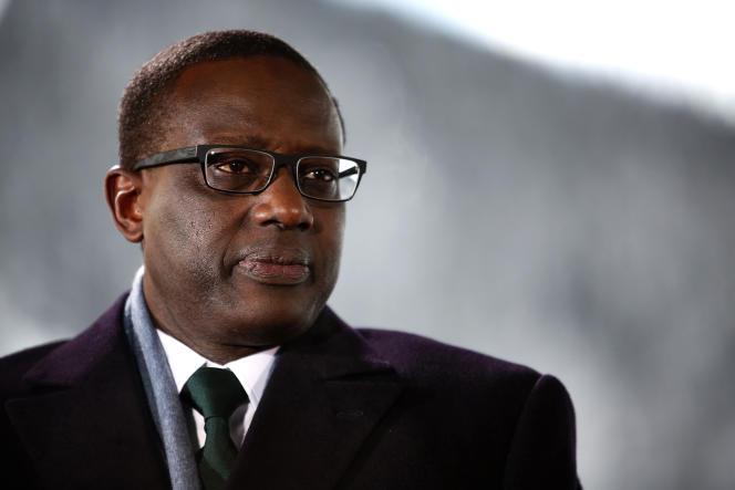 Tidjane Thiam, le 21 janvier à Davos (Suisse).