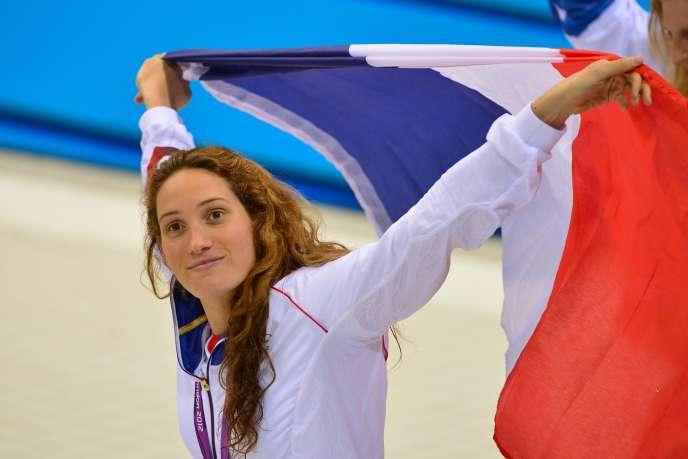 La nageuse française Camille Muffat à Londres, enjuillet2012.