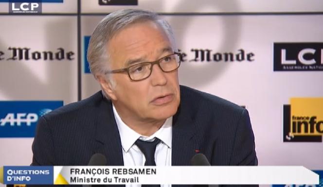 François Rebsamen, ministre du travail, le 11 mars dans l'émission