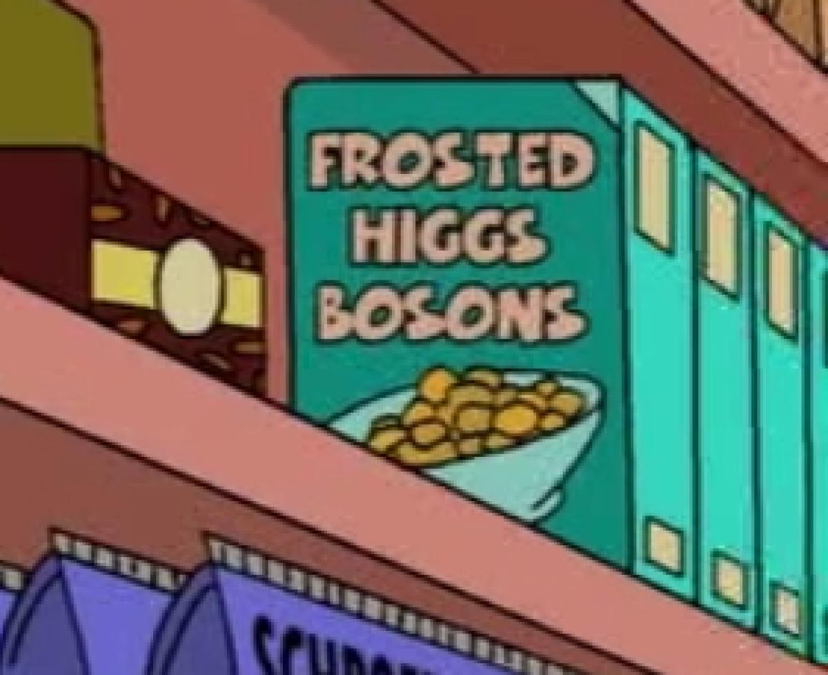 Les Frosted Higgs Bosons, autre facétie des Simpson.