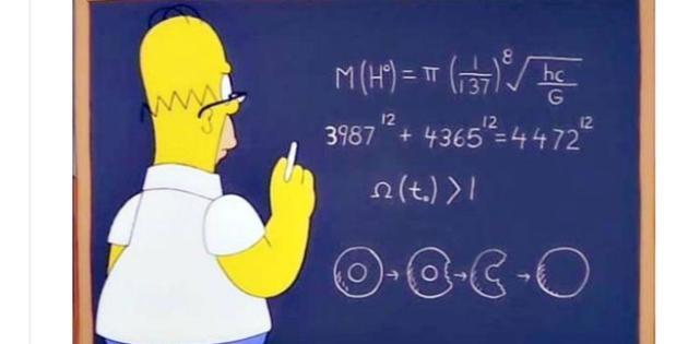 Dans un épisode de 1998, Homer Simpson s'attaque subrepticement à quelques-uns des plus grands problèmes scientifiques.