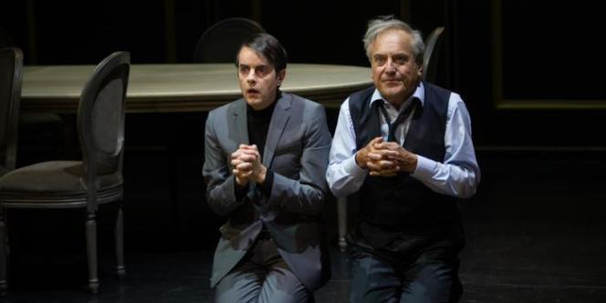 Emmanuel Vérité (Tartuffe) et Marc Berman (Orgon).