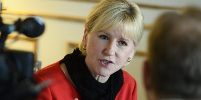 La ministre des affaires étrangères suédoise Margot Wallström le 11 mars 2015 à Stockholm.