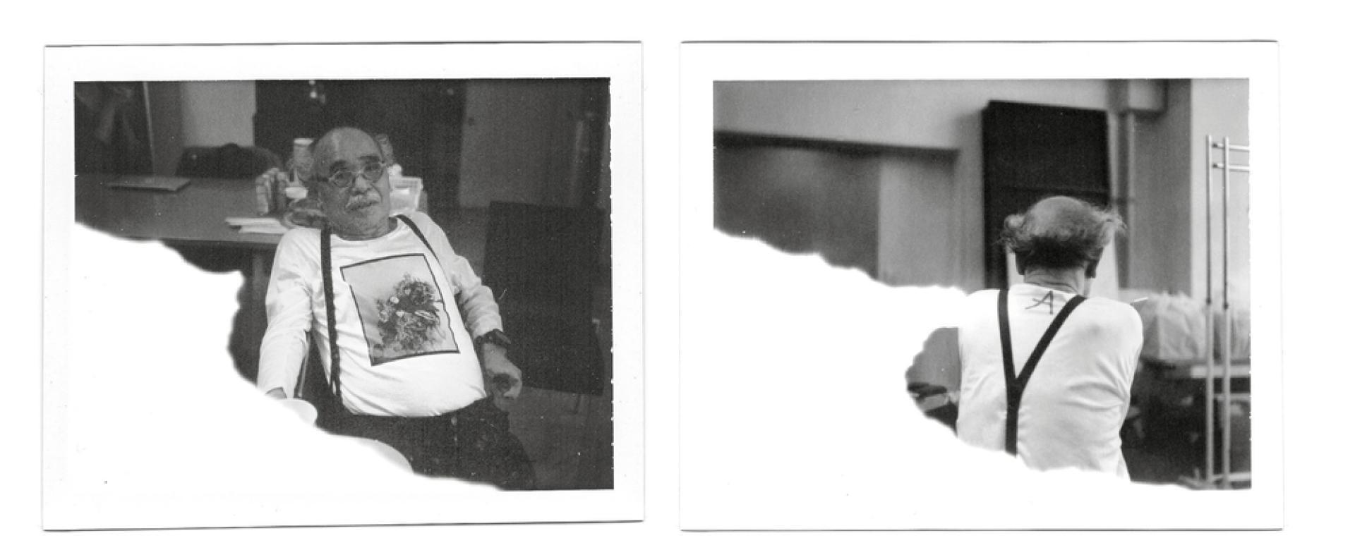 Araki, fin 2014, alors qu'il photographiait la série mode....