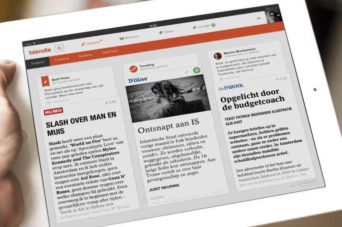 L'application Blendle permet d'acheter à l'unité des articles issus de nombreux titres de presse.