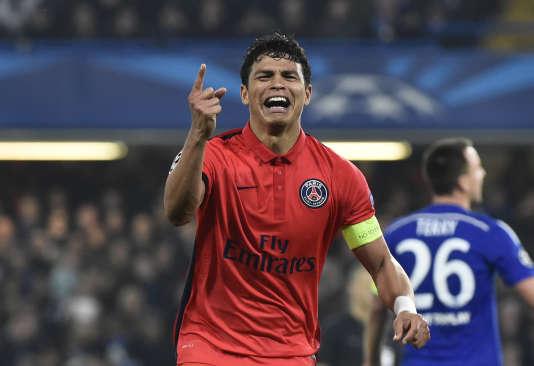 Thiago Silva marque le but de la qualification face à Chelsea en huitièmes de finale, la saison dernière.