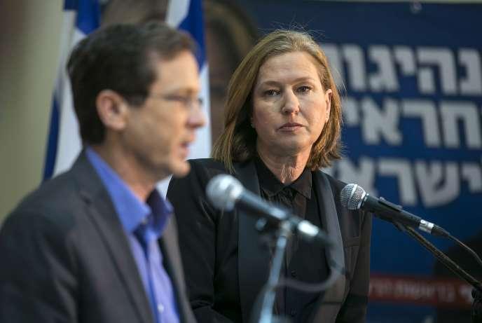 Tzipi Livni, lors d'une conférence de presse à Tel-Aviv, en mars 2015.