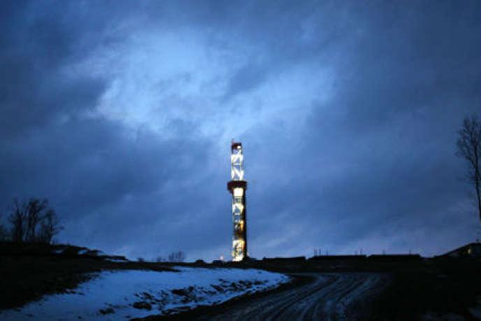 Puits de gaz de schiste en Pennsylvanie, aux Etats-Unis.