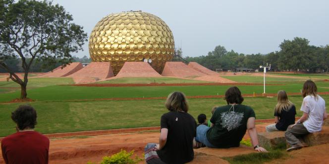Le Matrimandir, centre et lieu de méditation d'Auroville dans le Tamil Nadu (Inde).