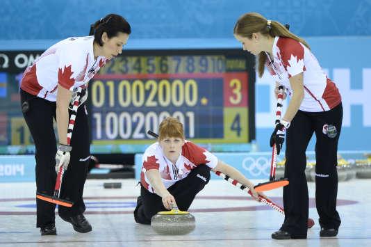La Canadienne Dawn McEwen, ici lors des Jeux à Sochi, le 20 février 2014.