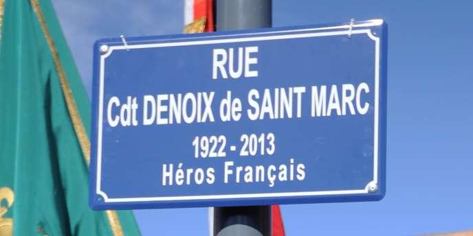 La nouvelle rue de Béziers, baptisée par Robert Ménard du nom d'un participant au putsch des généraux contre le général de Gaulle.