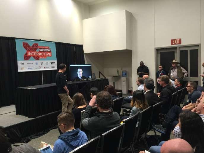 Edward Snowden a participé à une réunion secrète avec des chefs d'entreprise lors du festival South by Southwest.