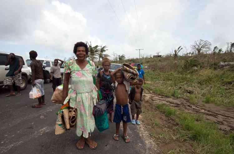 Selon l'ONG Oxfam, 90 % des habitations de la capitale Port-Vila ont été détruites.