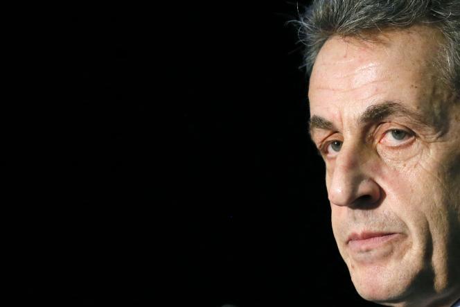Nicolas Sarkozy le 16 mars à Paris.