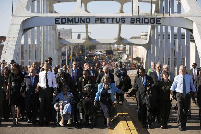 Le pont Edmund-Pettus à Selma, le 7 mars 2015.