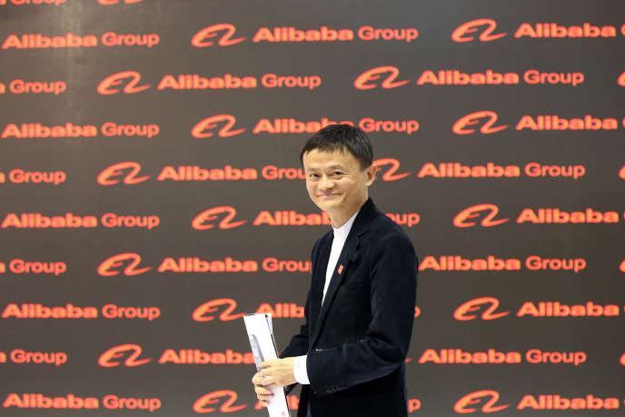 Jack Ma,le patron d'Alibaba à Hanovre (Allemagne), le 16 mars 2015.