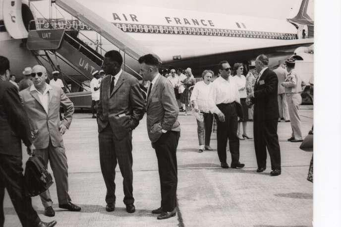 Mauricheau et Moïse Tshombé, en novembre 1961