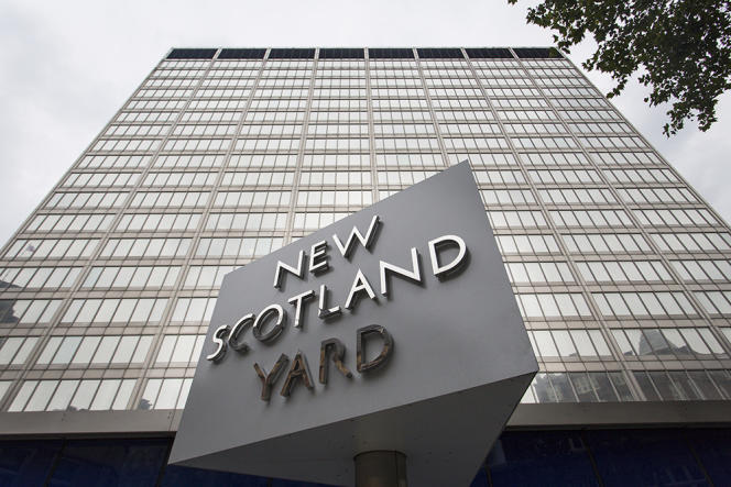 Le quartier général de la police à Londres.