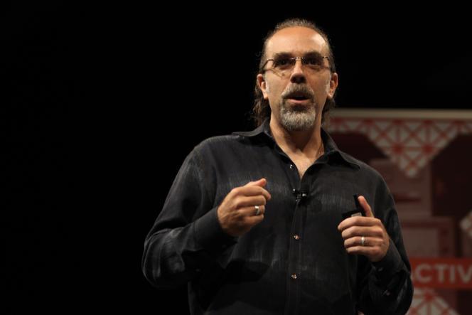 Astro Teller, le patron de GoogleX, présente l'activité de son laboratoire de recherche au festival SXSW, le 17 mars.