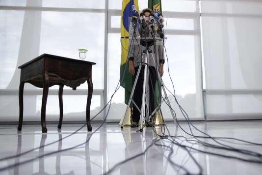 Dilma Rousseff, le 16 mars à Brasilia.
