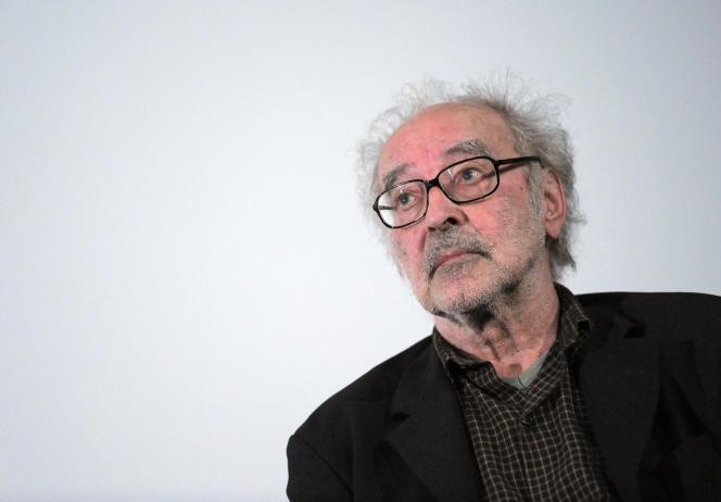 Jean-Luc Godard au Cinéma des cinéastes à Paris, le 18 juin 2010.